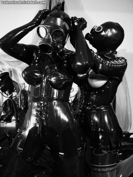 Heavy rubber latex fetish